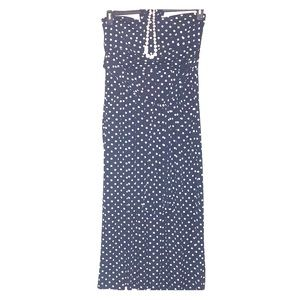 Dress Navy Blue with white Polka Dots